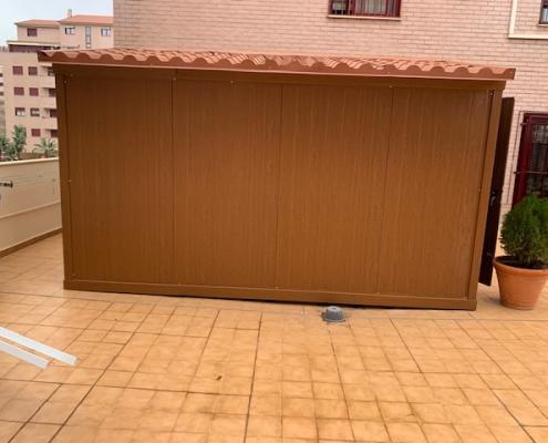 caseta madera terraza
